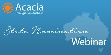 State Nomination Webinar tickets