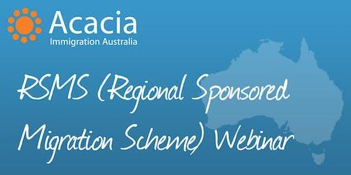 RSMS (Regional Sponsored Migration Scheme) Webinar