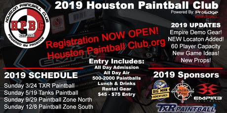 Houston Paintball Club Event #3 - Zone North 9-29-2019 tickets