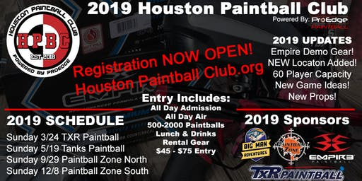 Houston Paintball Club Event #3 - Zone North 9-29-2019