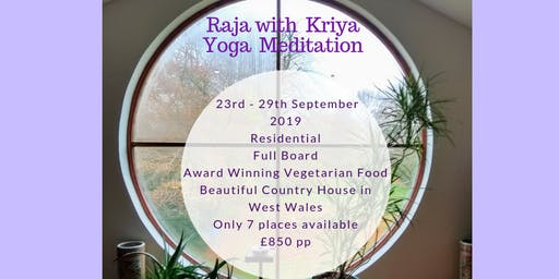 A Raja Kriya Yoga Pure Meditation Retreat Course.