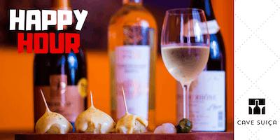 Happy Hour por 25 reais com vinho