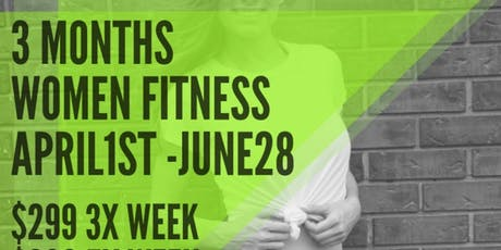 3 Month Women's Bootcamp Classes (39 CLASSES) $299 tickets