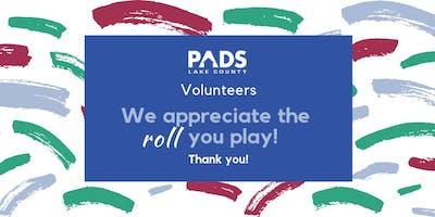 PADS Lake County Volunteer Appreciation Dinner
