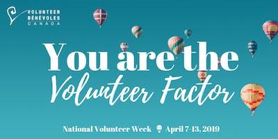 National Volunteer Week Open House April 8th, 2019