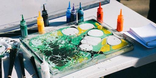 DIY Happy Hour at The Commune: Water Marbling Workshop