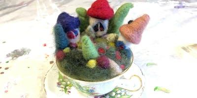 Needle Felted Fairy Garden Teacup at the Tett