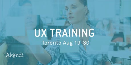 UX Professional Training & Certification, Toronto AUGUST 2019 tickets