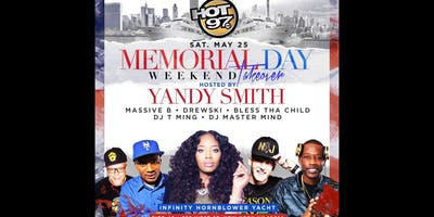 HOT 97 YANDY SMITH MEMORIAL WEEKEND YACHT PARTY