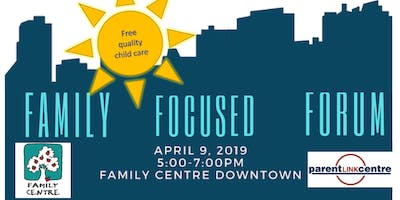 Child care for Family-Focused Election Forum at Family Centre Downtown