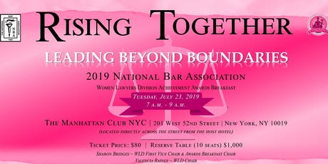 2019 National Bar Association-Women Lawyers Division Awards Breakfast tickets