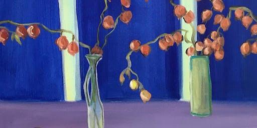 Chinese Lanterns Paint & Sip Night - Art Painting, Drink & Food