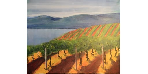 BC Vineyard Paint & Sip Night - Art Painting, Drink & Food