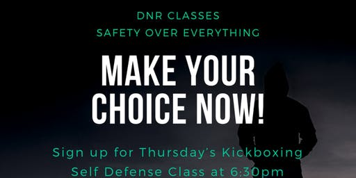 Thursday Kickboxing Self Defense Class