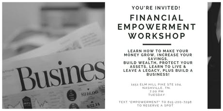 Free Financial Empowerment Workshops & Career Night tickets