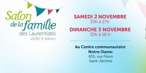 Salon de la Famille des Laurentides, 5e édition 2019