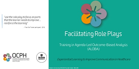 OCPH Communication training for trainers: ALOBA 'Facilitating role plays' tickets