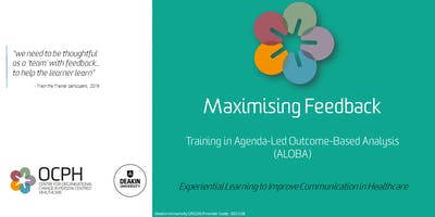 OCPH Communication training for trainers: ALOBA 'Maximising Feedback'