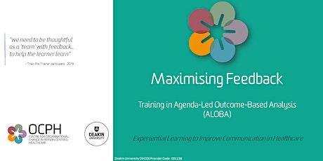 OCPH Communication training for trainers: ALOBA 'Maximising Feedback' tickets