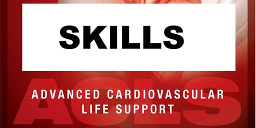 AHA ACLS Skills Session July 20, 2019 from 1 PM to 3 PM at Saving American Hearts, Inc. 6165 Lehman Drive Suite 202 Colorado Springs, Colorado 80918.