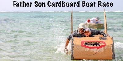 Father Son Cardboard Boat Race