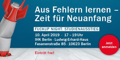 Fuckup Night: Studienausstieg