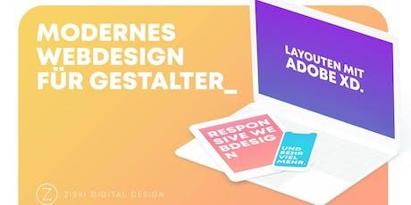 Modernes Webdesign für Gestalter - Layouten mit Adobe XD Tickets
