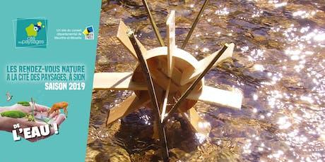 Atelier bricolage: Fabrication d'un moulin à eau en bois. billets