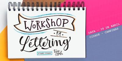 Workshop de Lettering em CAMPINAS - com Karol Stefanini