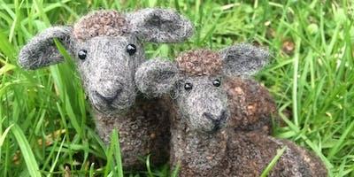 Country Sheep Needle Felting Workshop at Gone Potty Art Studio