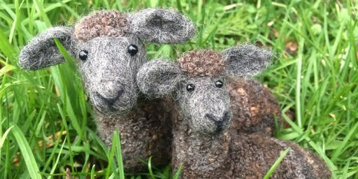 Country Sheep Needle Felting Workshop at Gone Potty Art Studio