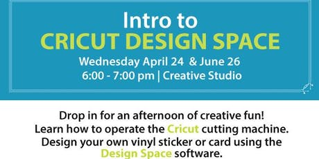 Introduction to Cricut and Design Space tickets
