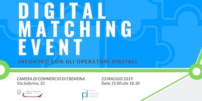 DIGITAL MATCHING EVENT - Incontro con gli operatori digitali
