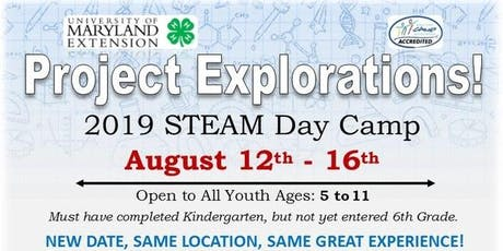 Project Explorations! 2019 STEAM Day Camp tickets
