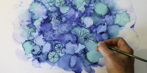 VIBRANCY OF SPRING: Alcohol Ink Workshop with Jessamy Keily