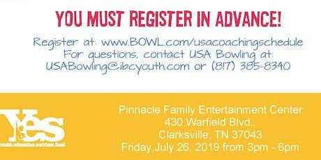 FREE USA Bowling Coach Certification Seminar - Pinnacle Family Entertainment Center, Clarksville, TN tickets