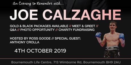 An Evening to Remember with Joe Calzaghe tickets