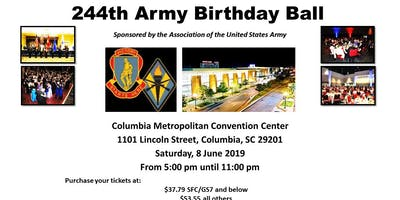 Fort Jackson Palmetto Chapter AUSA Army and Fort Jackson Birthday Ball 2019