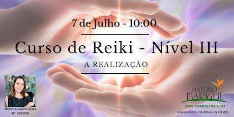 Curso de Reiki Nivel III - A Realização ingressos