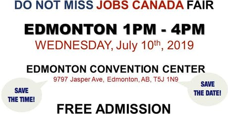 Edmonton Job Fair - July10th, 2019 tickets
