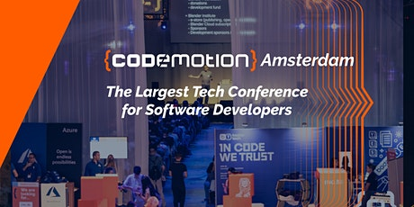 Codemotion Amsterdam 2020 Tech Conference tickets
