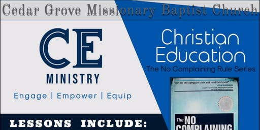 Cedar Grove MBC Christian Education Ministry