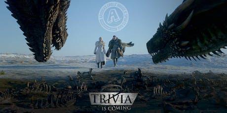 Arooga's Uncasville 'Game of Thrones' Trivia Night - Win Great Prizes tickets