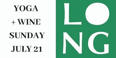 Yoga + Wine at LONG CELLARS tickets