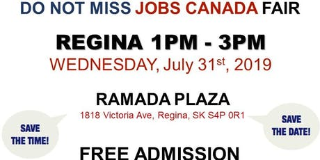 REGINA Job Fair – July 31st, 2019 tickets