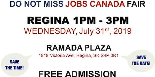 REGINA Job Fair – July 31st, 2019