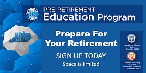 Pre-Retirement Education Program- KY Dam Village State Resort Park July 30