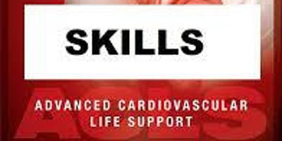 AHA ACLS Skills Session October 5, 2019 from 3 PM to 5 PM at Saving American Hearts, Inc. 6165 Lehman Drive Suite 202 Colorado Springs, Colorado 80918.