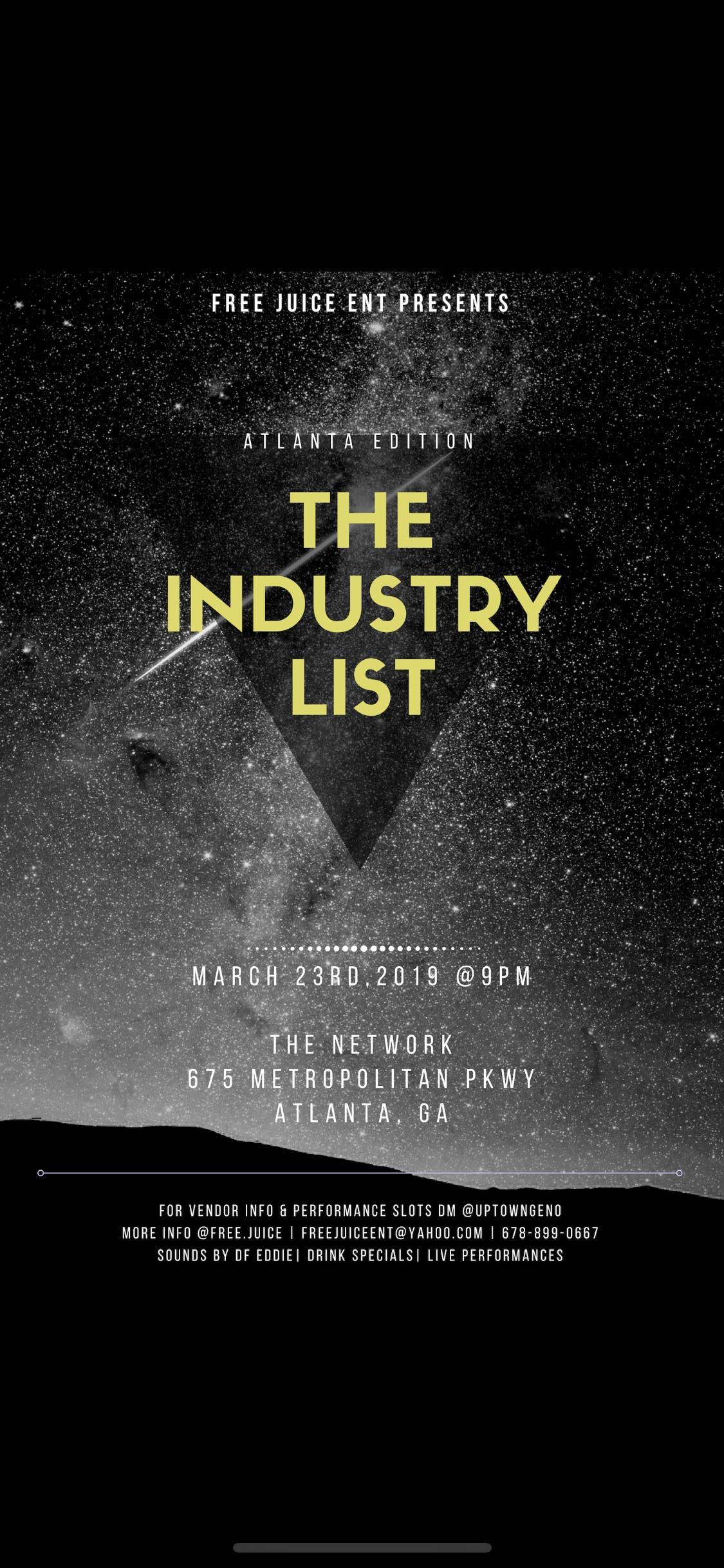 The Industry List- Concert of ATLANTA's Trend