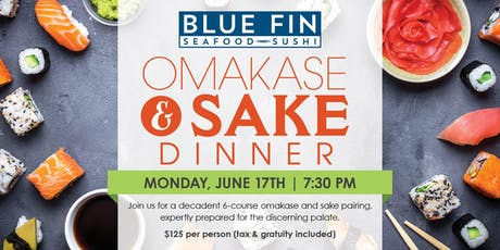 Blue Fin Omakase & Sake Dinner- New York, NY tickets